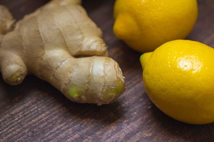 ingefær og sitron