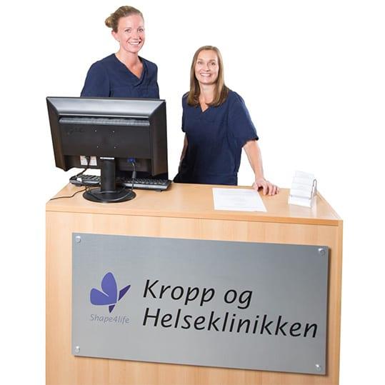 Kropp og Helseklinikken - Resepsjon - Beate og Camilla