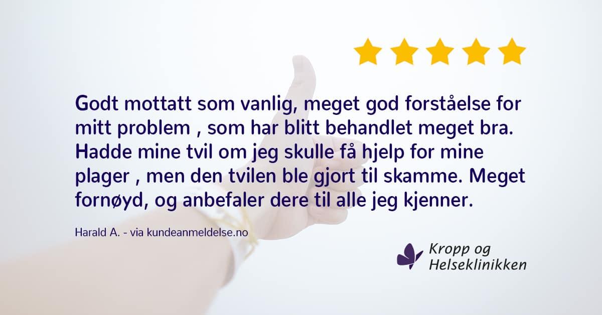 Det går nok over… - Kropp og Helseklinikken - Gjøvik